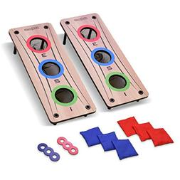 GoSports 2-in-1 Bean Bag Toss and Washer Toss Combo Outdoor