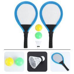 1 Pair Children Badminton Tennis Rackets Balls Set Kids Outd