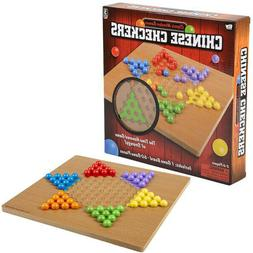 """10"""" Wooden Chinese Checkers Classic Kids Family Board Games"""