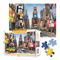 1000 PCS Puzzles Times Square Jigsaw Puzzle Games For Adults