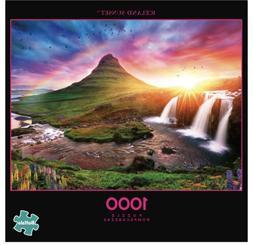 Buffalo Games 1000 Piece Jigsaw Puzzle Iceland Sunset - Bonu