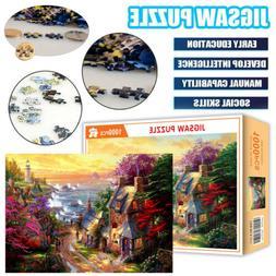 1000 Pieces Jigsaw Puzzle Cottage Assembling Puzzles Educati