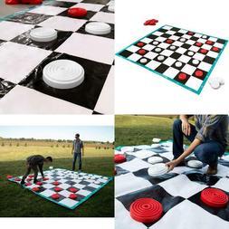 10x10ft Massive Lawn Checkers Game - Family Fun Colossal Che