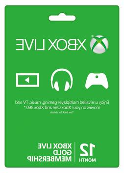 Microsoft Xbox Live Gold 12 Month Membership Quick Delivery!