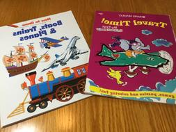 2 BOOK SET! TRAVEL TIME! KIDS ACTIVITY BOOK & HOW TO DRAW BO