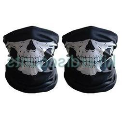 2 Skeleton Ghost Skull Face Mask Biker Balaclava Costume Gam