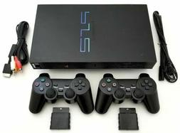 2 WIRELESS CONTROLLERS Sony PS2 Game System Gaming Console P
