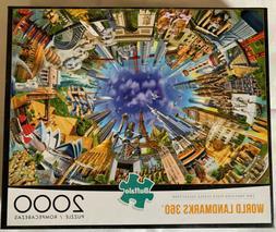 2000 piece jigsaw puzzle world landmarks 360