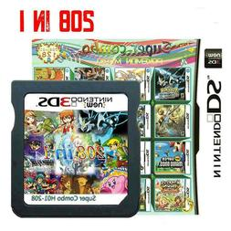208 in 1 Games Cartridge Multicart For Nintendo NDS NDSI NDS