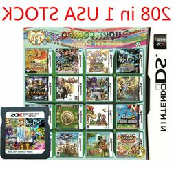 208 in 1 Games Cartridge Multicart For Nintendo DS NDS NDSL