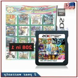 208 in 1 Games Game Multi Cartridge For Nintendo DS NDS NDSL