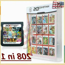 208 in1 Video Games Card Cartridge Multicart For DS NDS NDSL