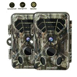 2PC Trail Camera 16MP Hunting Cam IP66 Wild Game Scouting Lo