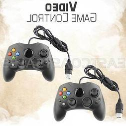 2x For XBOX S-Type Controller Original Microsoft Wired Black