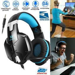 3.5mm Each G1200 Gaming Stereo Headset Headphones Headband +