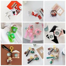 3D Cute Cartoon Silicone Airpod Protective Case Cover Skin f