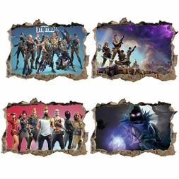 3D Fortnite Game Wall Sticker Decal Mural Art Stickers Bedro