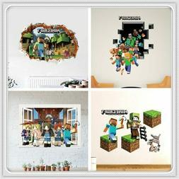 3d minecraft game wall sticker decal mural