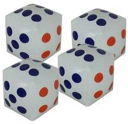 4 Inflatable Dice Giant Glow Family Game Indoor Outdoor Home