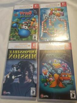 4 Nintendo Switch Games digital codes