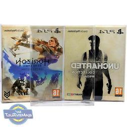 5 BOX PROTECTORS 4 Horizon Limited Uncharted Special PS4 Gam