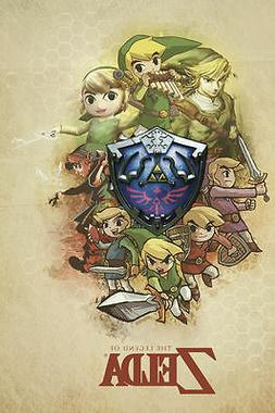 A4 Gaming Poster - Evolution of the Zelda Characters