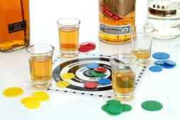 ADULT DRINKING GAME TIDDLYWINKS TIDDLY WINKS 4 SHOT GLASSES