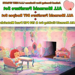 Animal Crossing:New Horizons 1.3.0 ALL Mermaid DIY Recipes+F