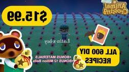 Animal Crossing New Horizons 💎ALL 600 DIY RECIPES💎 ⚡