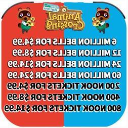Animal Crossing New Horizons BELLS, NOOK TICKETS, FISH BAIT