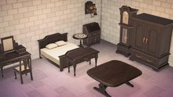 Animal Crossing New Horizons Full Black Antique Bedroom Set
