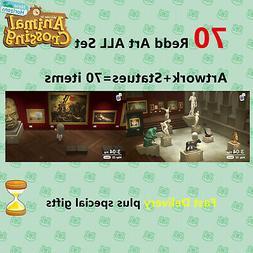Animal Crossing: New Horizons Full Redd Art Work and Statues