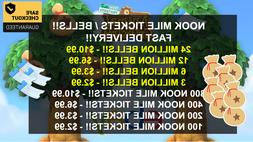 Animal Crossing New Horizons NOOK MILE TICKETS / BELLS!! Ins