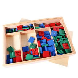 Baby Kids Montessori Stamps Game Set Math Number Early Learn