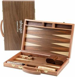 Backgammon Board Game Set  for Adults and Kids Classic Strat