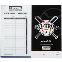 Murray Sporting Goods Baseball Lineup Cards - 30 Games - 16