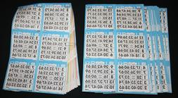 bingo paper cards sheets 6 on 10