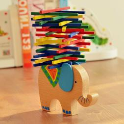 Blalance Games Montessori Wooden Toys Elephant Shape for Kid