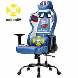 Blue Gaming Chairs for Adults Video Game Computer PC Racing