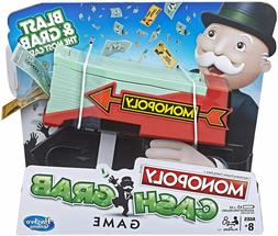 Board Games For Kids 8 & Up Monopoly Cash Grab Game Family F