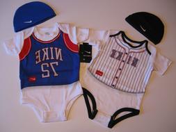 Boy's Nike Bodysuit & Hat 0 - 3, 3 - 6, 6 - 9 & 9 - 12 M Mon