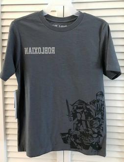 Boys Gray ROBLOXIAN Tee Shirt NEW 4-5, 8, 10-12 or 14-16 Rob