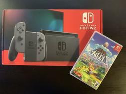 Brand New Nintendo Switch Console Gray V2 / Free Zelda Links