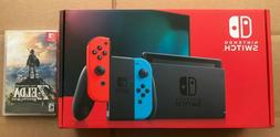 Brand New Nintendo Switch Console With Neon Red and Blue Joy