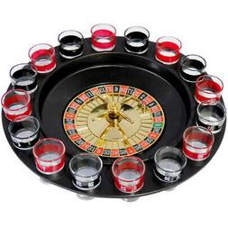 Evelots Casino Shot Glass Roulette Drinking Game Set With 16
