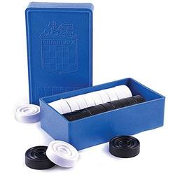 Checkers Game in Box Black and White Set of 24 Made in Russi