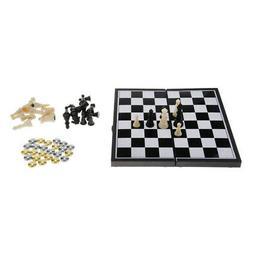 Checkers Set Travel Game Board Chess Educational Toys for Ki