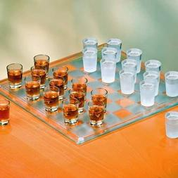 Checkers Shot Glass Bar Game Set