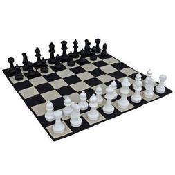 MegaChess Large Chess Pieces and Large Chess Mat - Black and