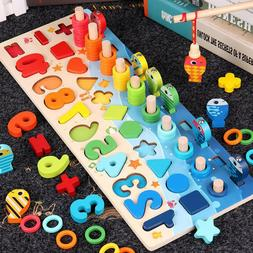 Children's Kids Number Matching Fishing Board Puzzle Learnin